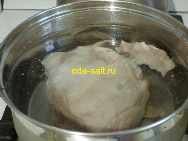 Похлебка с картошкой варим свинину для бульона