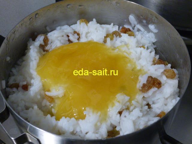Добавить в кутью из риса с изюмом мед