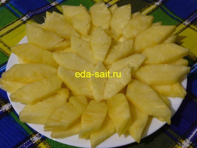 Как нарезать ананас фото