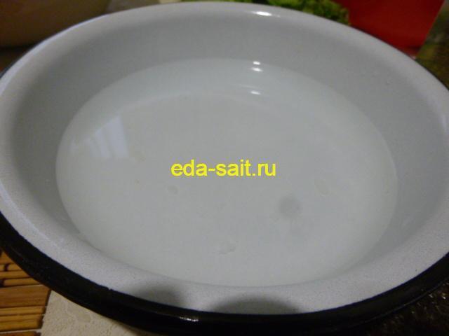 Миска с водой для смачивания рук