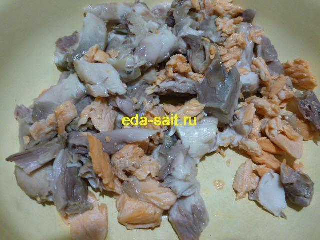 Мякоть рыбы для солянки