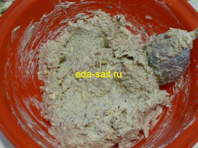 Начинка из рыбных консервов для фарширования яиц