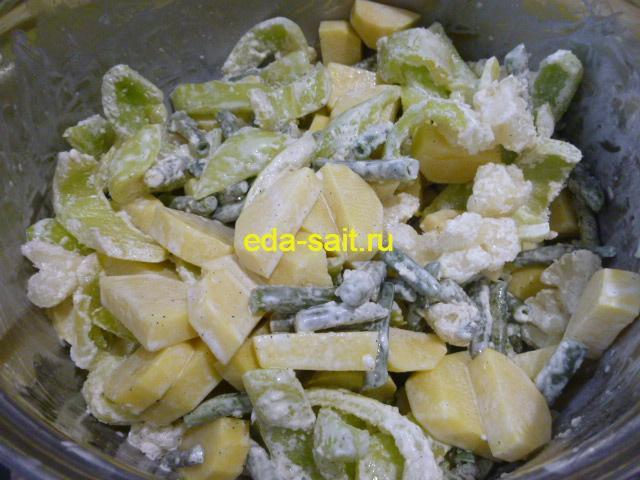 Подготовленные овощи для свиных стейков
