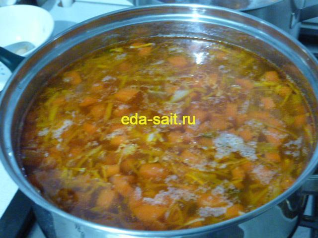 Рыбная солянка с капустой