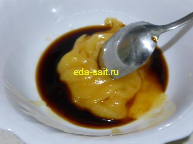 Соевый соус и мед для утки