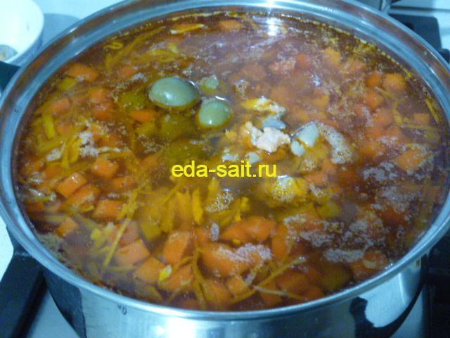 Солянка рыбная добавить маслины или оливки