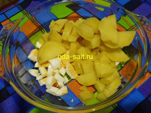 Нарезать картошку в оливье