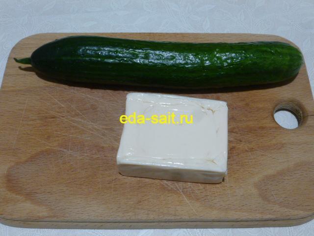 Огурец и сыр для роллов
