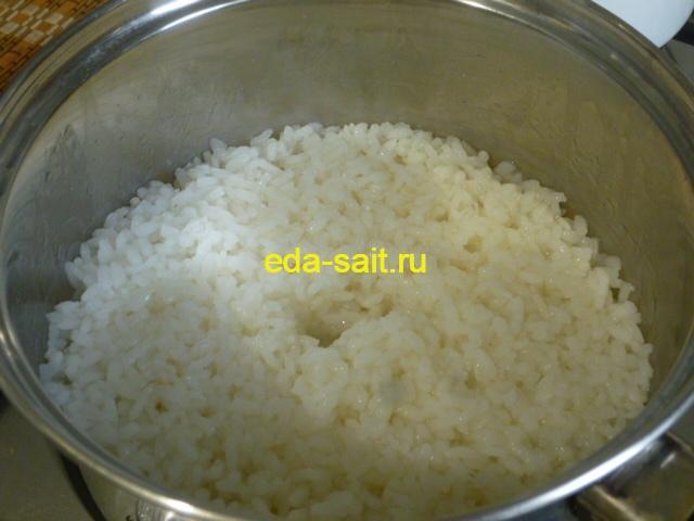 Вареный рис для роллов