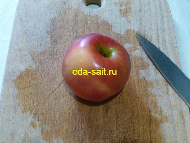 Яблоко для постного салата