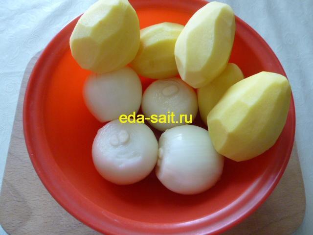 Картошка и лук для мантов