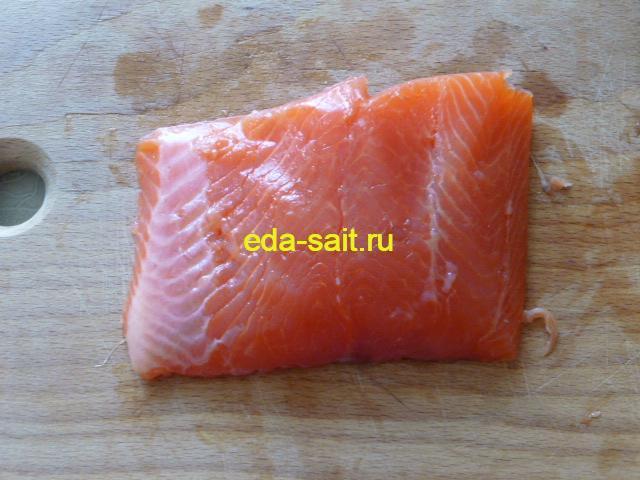 Красная рыба для роллов