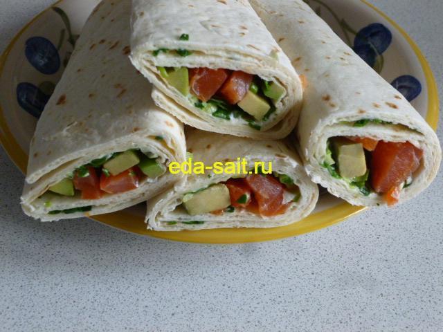 Роллы из мексиканских лепешек пошаговый рецепт с фото
