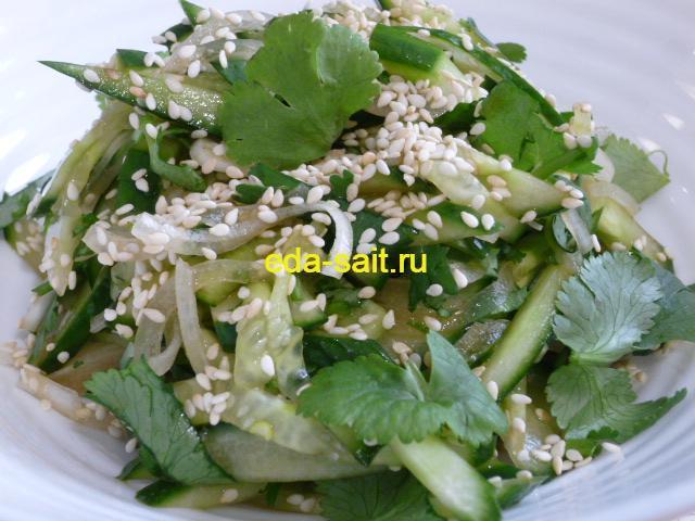 Салат из огурцов по тайски фото