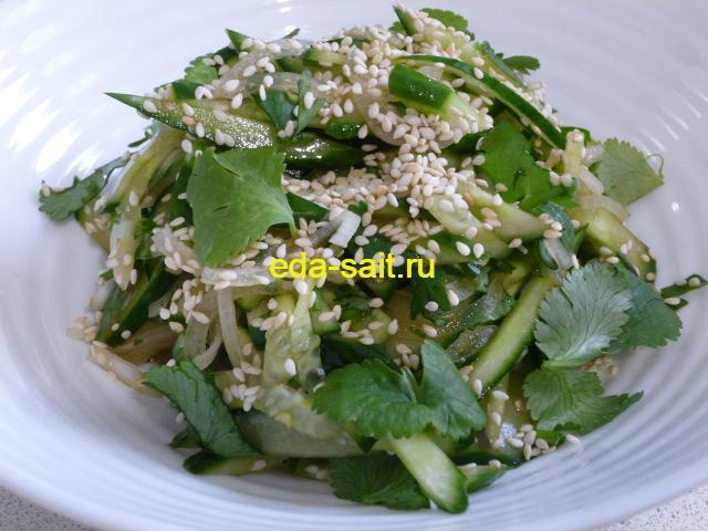 Салат из огурцов по тайски