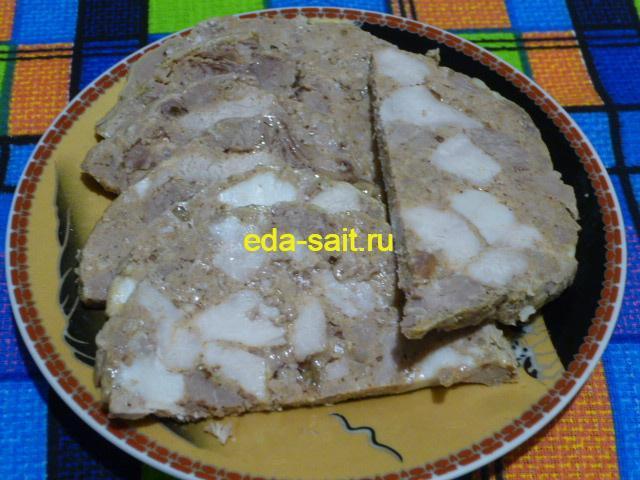 Ветчина из свинины и говядины пошаговый рецепт с фото