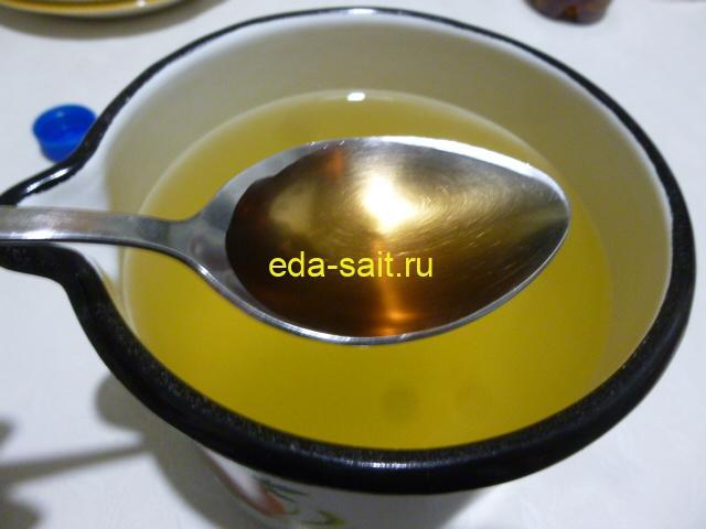 Добавить к меду с водой уксус