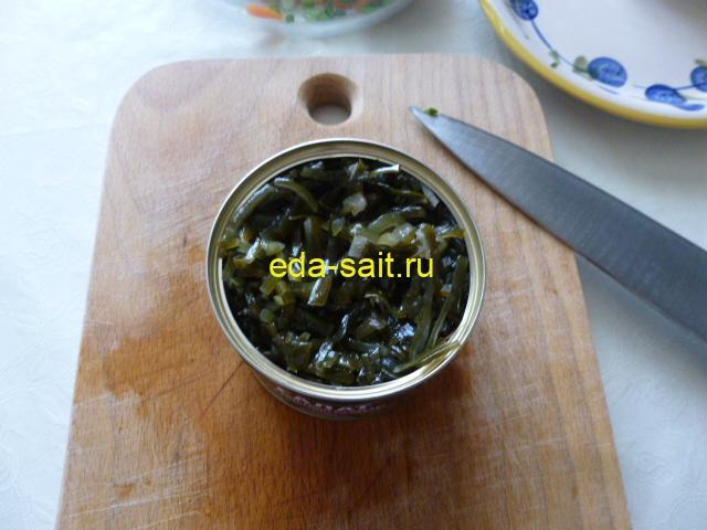 Морская капуста для салата со свеклой
