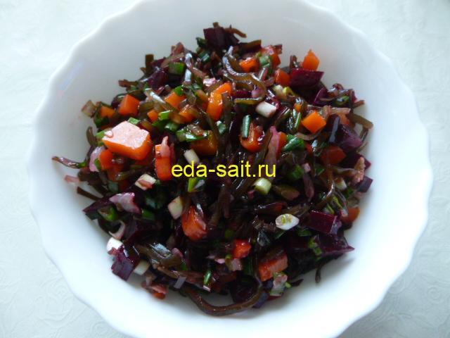 Салат из морской капусты и свеклы