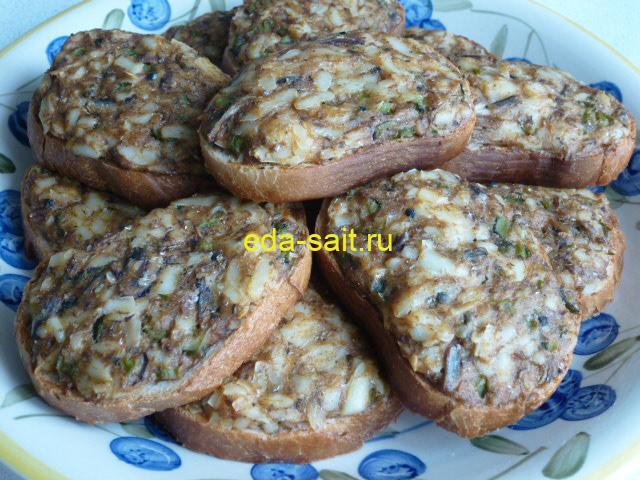 Бутерброды с килькой в томате пошаговый рецепт с фото