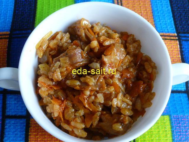 Кролик с рисом и овощами фото