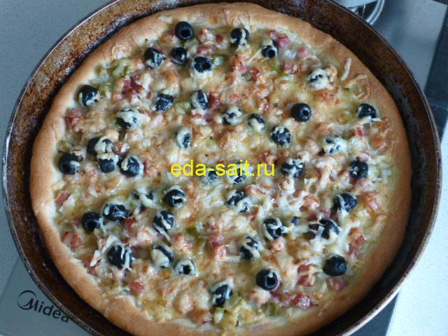 Пицца на картофельном тесте