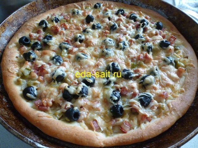 Пицца на тесте из картофеля