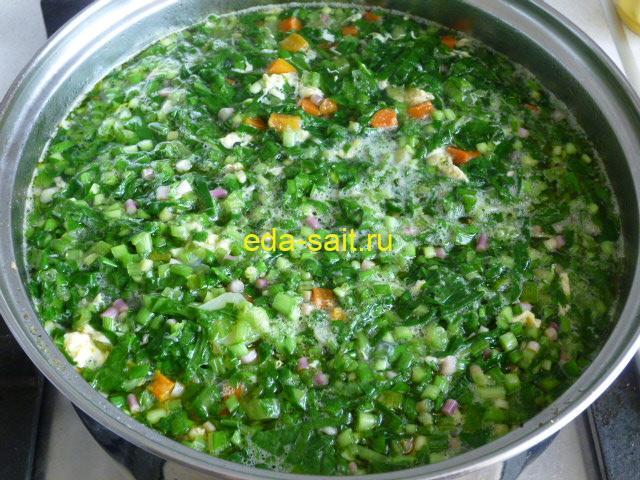 Суп со шпинатом пошаговый рецепт с фото