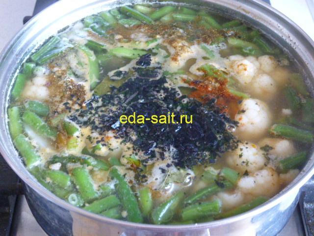 Заложить в суп зелень