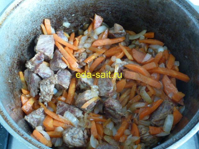 Добавить в плов лук с морковью