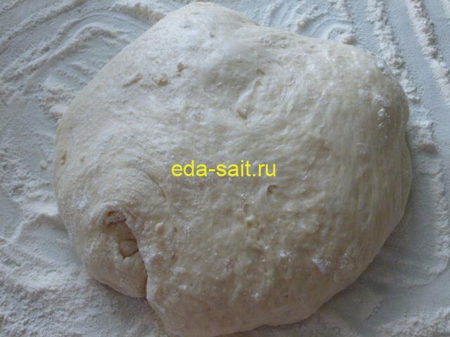 Дрожжевое тесто для пирожков с капустой