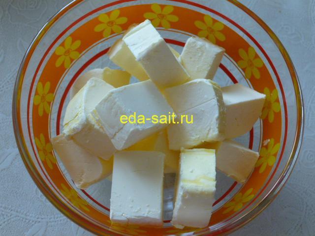 Нарезать маргарин кубиками