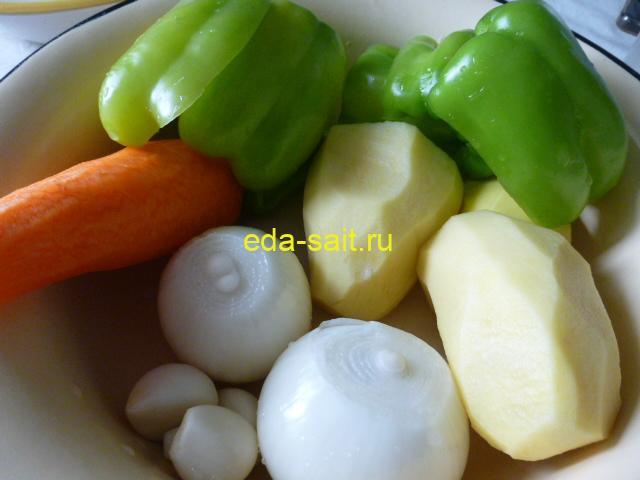 Овощи для щей из говядины