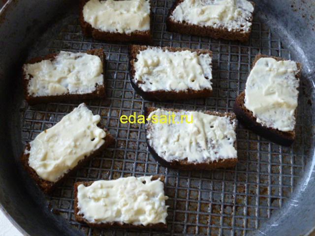 Как приготовить бутерброды из черного хлеба
