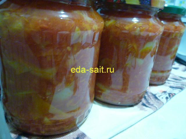 Лечо на зиму с помидорами, перцем и морковью