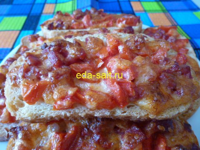 Бутерброды с колбасой, помидорами и сыром пошаговый рецепт с фото