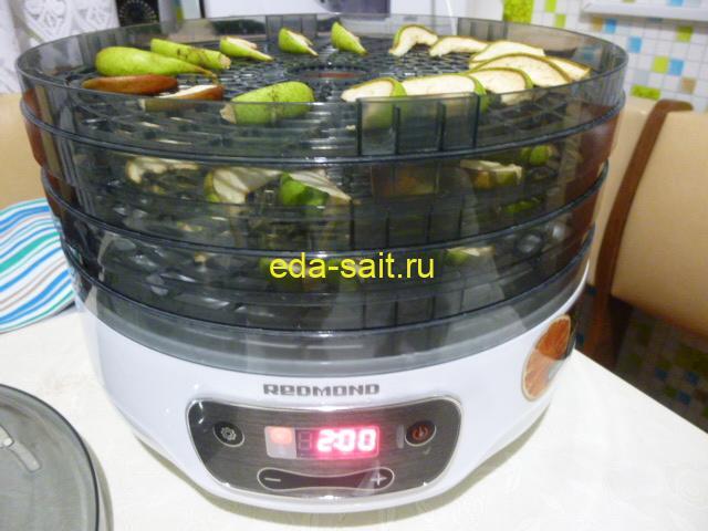 Добавить 2 часа для сушки груш