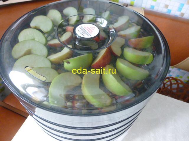 Яблоки в электросушилке пошаговый рецепт с фото