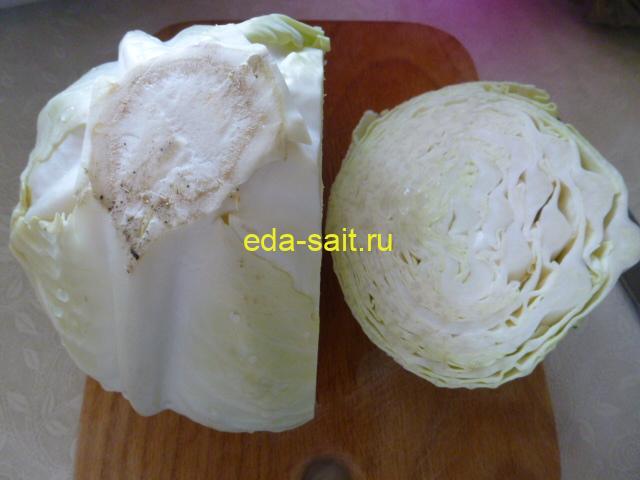 Капуста для салата с огурцами на зиму
