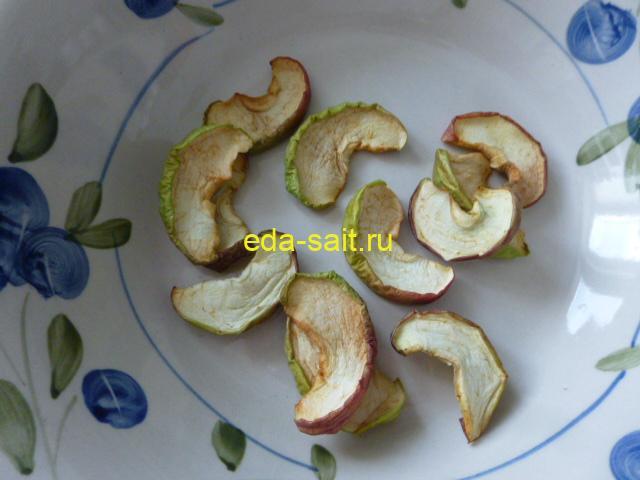 Сушеные яблоки убрать с поддонов