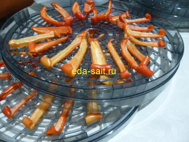 Вяленый болгарский перец через 10 часов