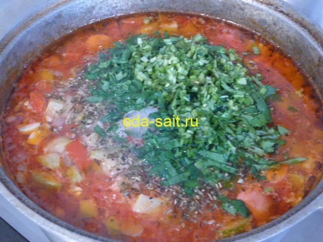 Как приготовить суп с фасолью и овощами