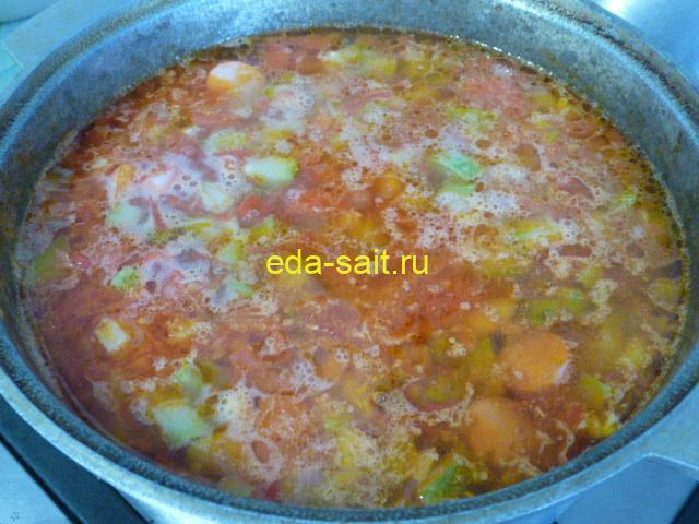 Овощной суп с фасолью пошаговый рецепт с фото