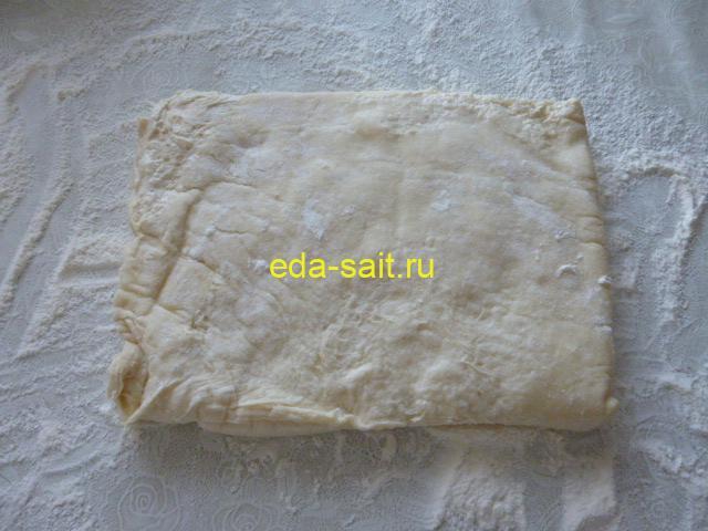 Слоёное тесто и капуста